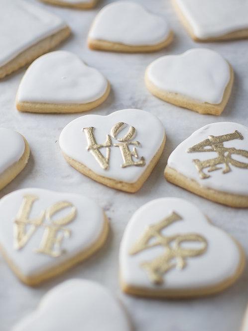 1dz Valentine's Theme Cookies