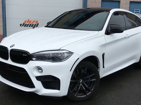 BMW X6M Wrap - Satin White