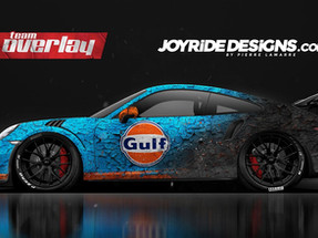 Wrap Porsche GT3RS Gulf Burned Design
