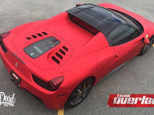Ferrari 458 Wrap - Satin Chrome Red