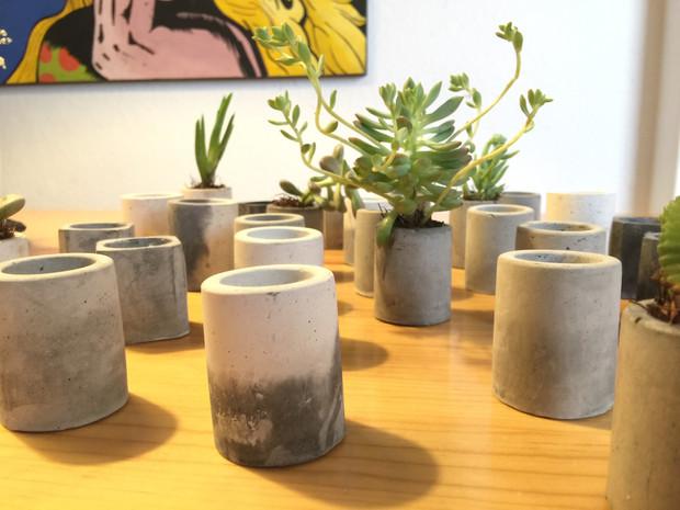 macetas de cemento | liesl lar inicio