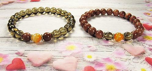 Парные браслеты из натуральных камней
