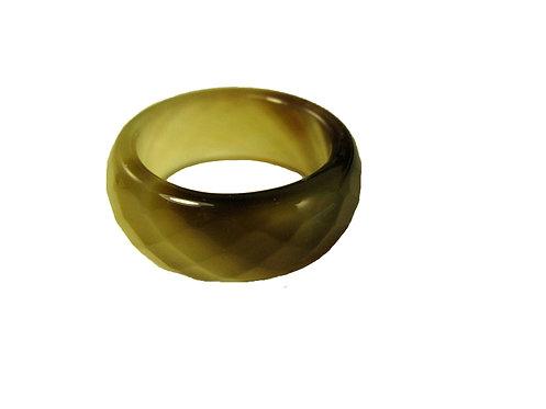 Кольцо из агата (граненый)