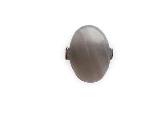Кольцо из серого агата