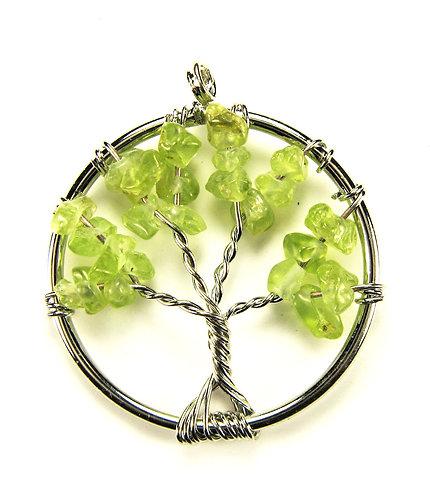 "Кулон из натурального камня ""Дерево жизни"""