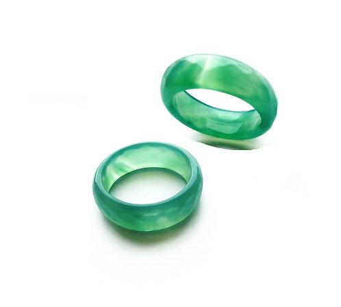 Кольцо из Нефрита граненый