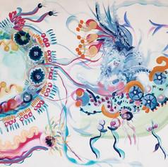 Co-painting with Inka Hannula. Acrylic on canvas, 86 x 93, 2021.