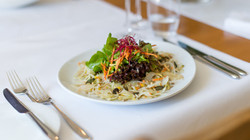 Salatessen, Essen