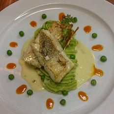 Fisch mit Kartoffelstock
