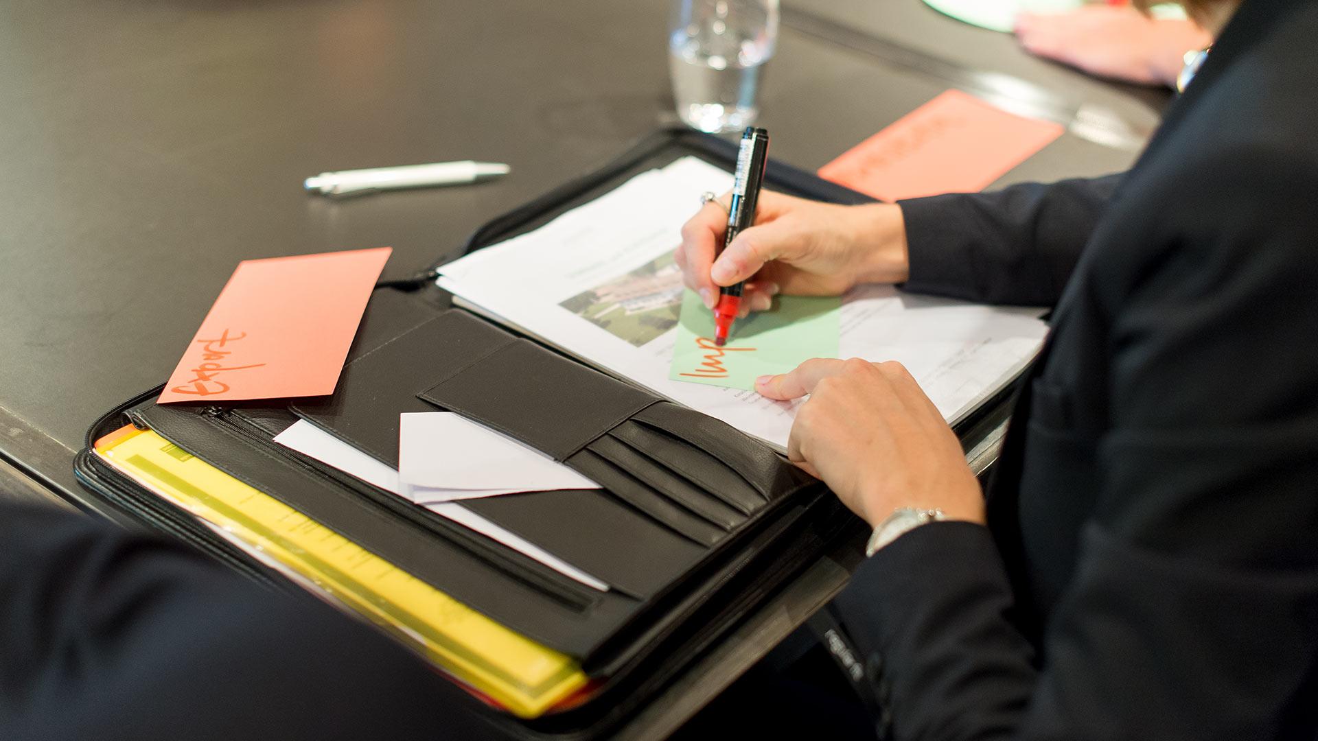 Notiz während eines Seminars