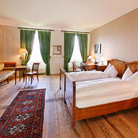 Hotelzimmer im Klosterhotel St. Petesinsel