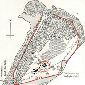 Geschichtliche Lageplan der St.Petersinsel