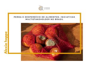 PERDA E DESPERDÍCIO DE ALIMENTOS: INICIATIVAS MULTISTAKEHOLDER NO BRASIL