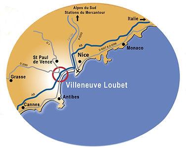 Carte - Villeneuve-Loubet