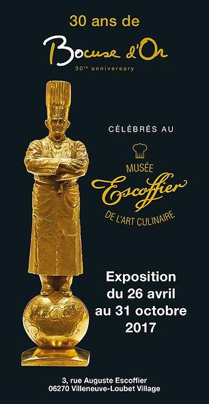 """Affiche Exposition """"30 ans de Bocuse d'Or"""""""