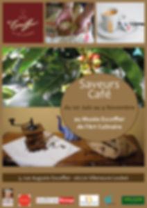 """Affiche Exposition""""Saveurs Café"""""""