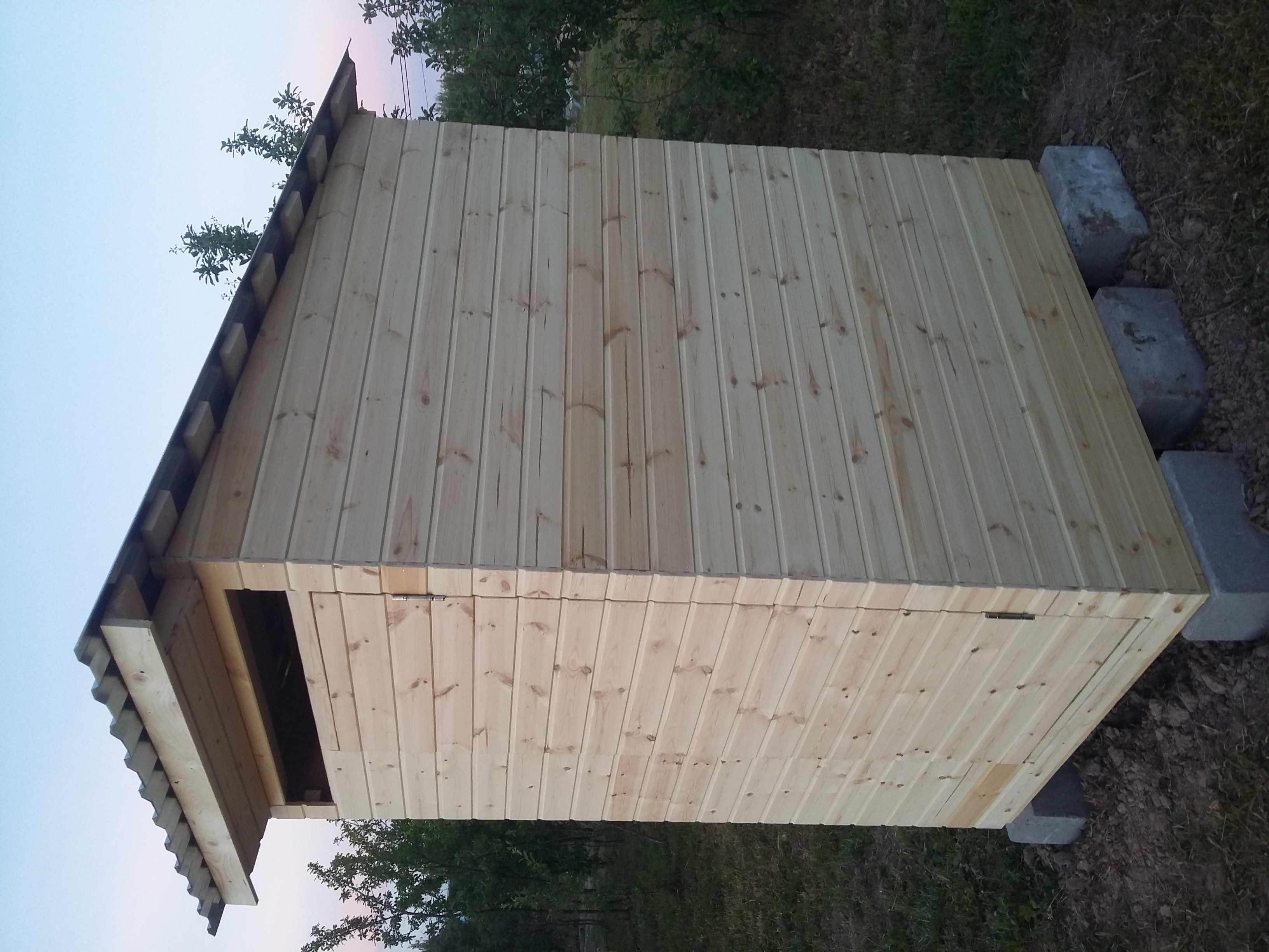 Деревянный туалет+хозблок в Ступино