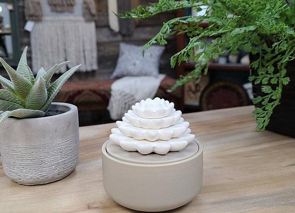 Porcelain Essential Oil Diffuser Succulent