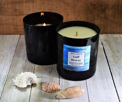 Hand poured soy candle Gulf Breeze