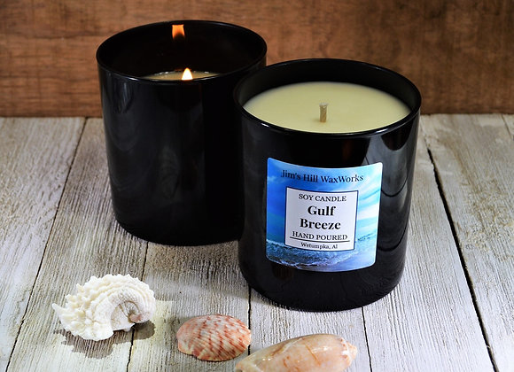 Soy Candle Gulf Breeze in Black Tumbler 8.5 oz