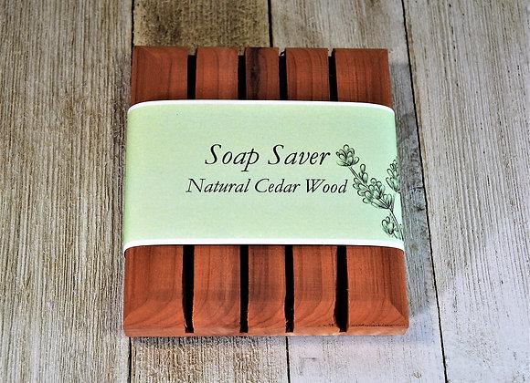 Soap Holder Cedar Wood