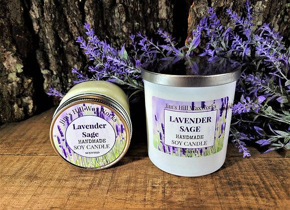 Soy Candle Lavender Sage