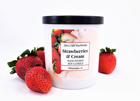 Soy Candle Strawberries and Cream 9 Net. Wt. Wholesale