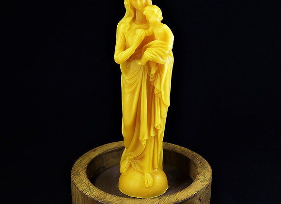 Pure Beeswax Candle Holy Mary with Child
