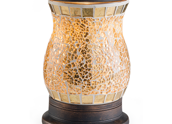 Wax Melter Gilded Glass