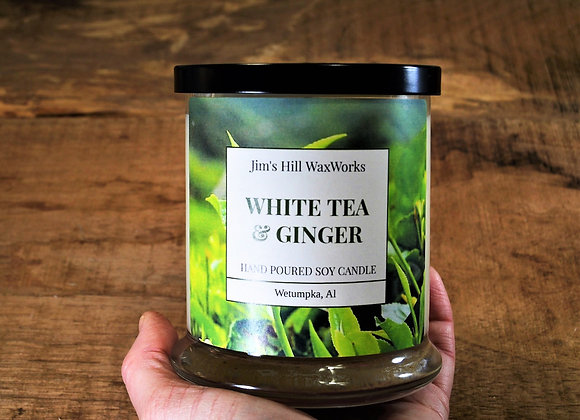 Soy Candle White Tea & Ginger 9 oz