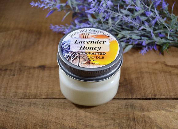 Soy Candle Lavender Honey 4.5 oz Mason Jar