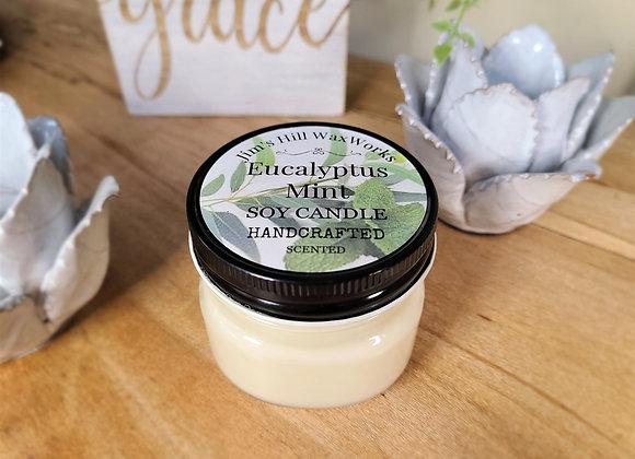 Soy Candle Eucalyptus Mint Mason Jar