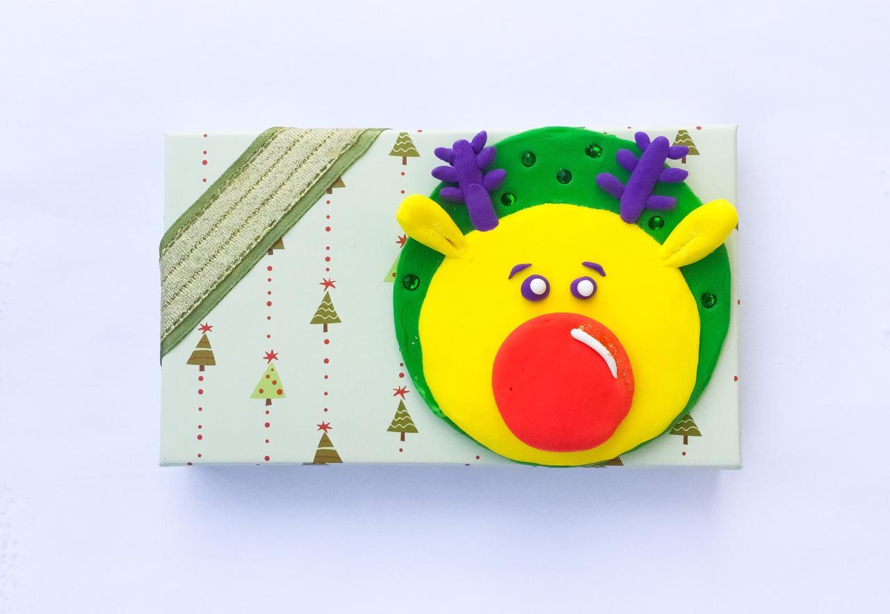 Мастер-класс в Академгородке: «Оленёнок» (декорирование подарочной коробочки)