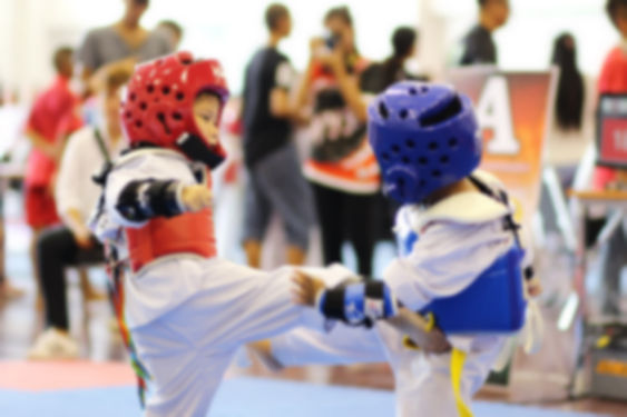 blurred background of Young Taekwondo at