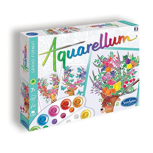 "Aquarellum ""Cerfs enchantés"" - Sentosphère"