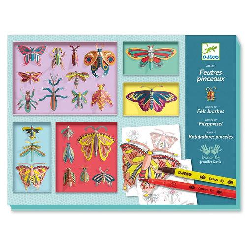 Feutres pinceaux - Cabinet de curiosités - Djeco