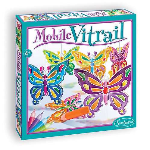 Kit mobile vitrail 'Papillons' - Sentosphère