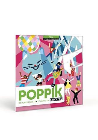 """Poppik - Puzzle en stickers """"Chats"""""""