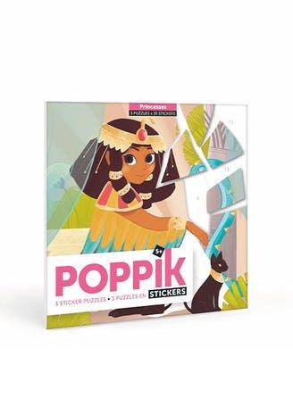 """Poppik -Puzzle en stickers """"Princesses"""""""