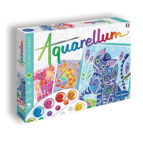 """Aquarellum """"Chats"""" - Sentosphère"""