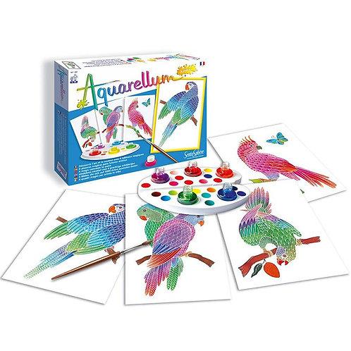 """Aquarellum Junior """"Perroquets"""" - Sentosphère"""