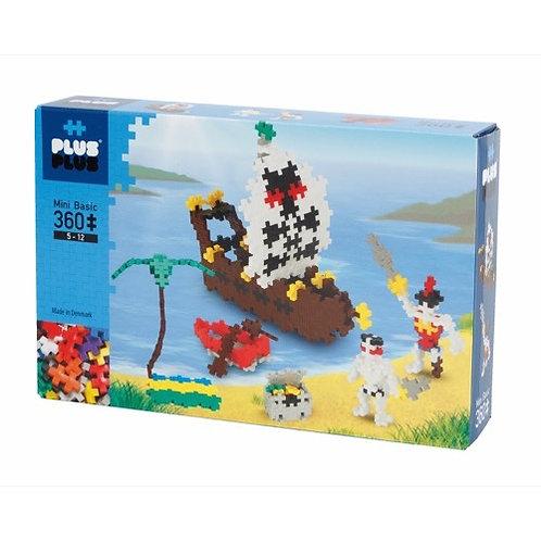 Box Basic Pirates 360pièces - Plus Plus Mini