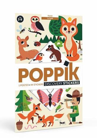 Poppik La forêt - Poster en stickers