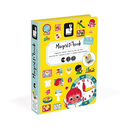 MAGNÉTI'BOOK J'APPRENDS L'HEURE, 75 MAGNETS - Janod