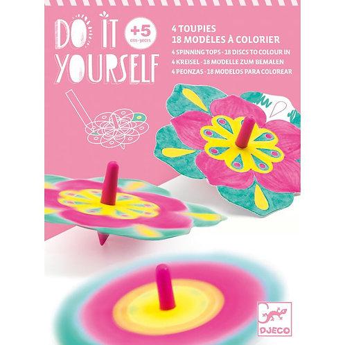Toupies DIY - Fleurs - Djeco