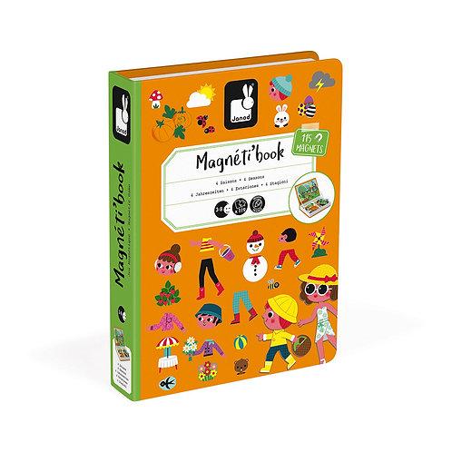 MAGNÉTI'BOOK 4 SAISONS, 115 MAGNETS - Janod