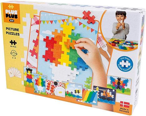 Puzzle 2D Big Basic 60 pièces - Plus plus BIG