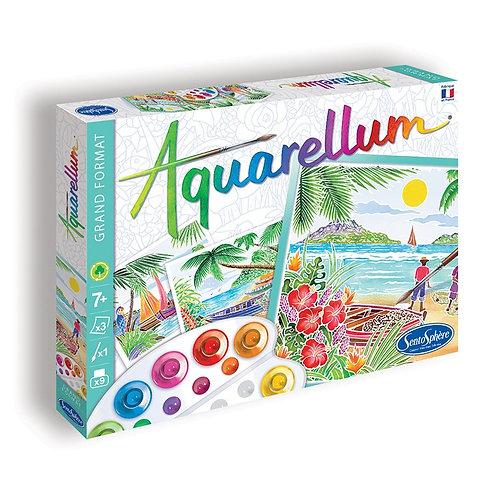 """Aquarellum """"Paysages tropicaux"""" - Sentosphère"""