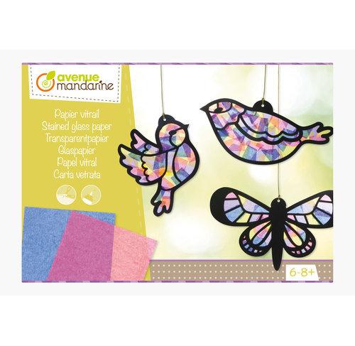Boite créative papier vitrail
