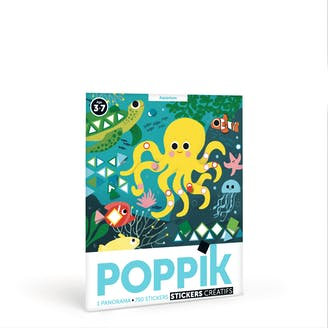 """Poppik - Panorama en gommettes """"Aquarium"""""""